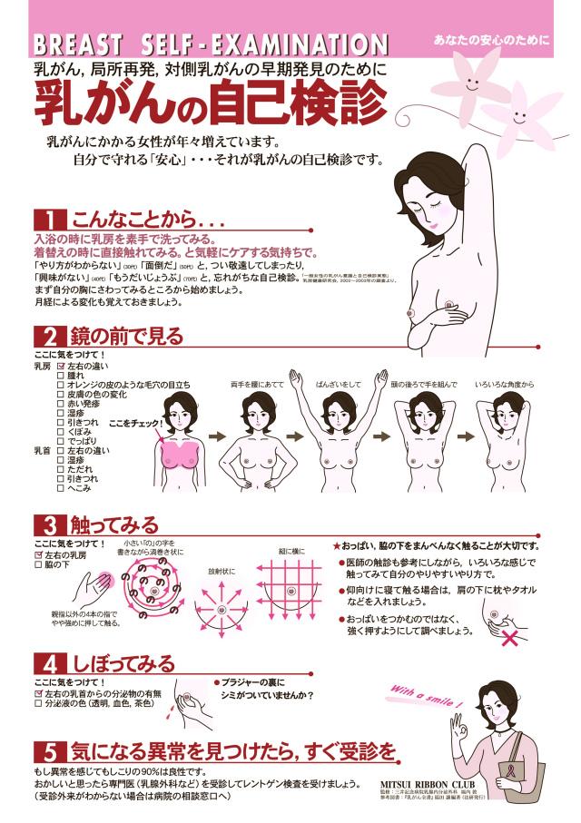 乳がん自己検診
